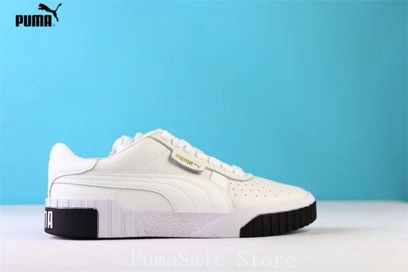 PUMA Women s Cali Sneaker 369155-04 Rihanna Basket Platform Euphoria Metal  Women Badminton Shoes White f718b0e55377