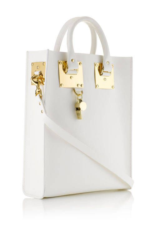 This White Tote Bag From Sophie Hulme Is Beautiful Fashion Handbags Purses And
