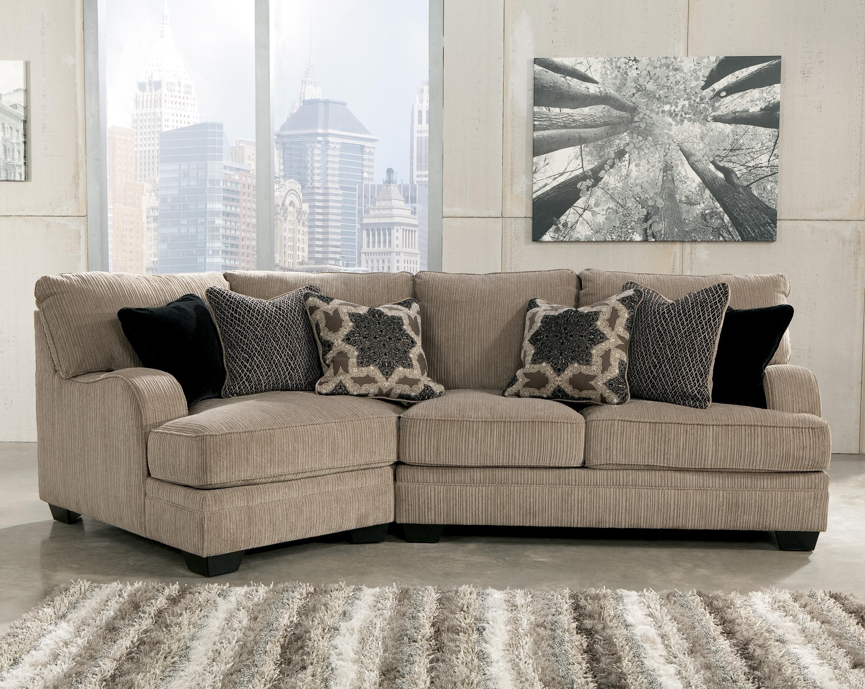 Platinum 2-Piece Sectional With Left Cuddler By