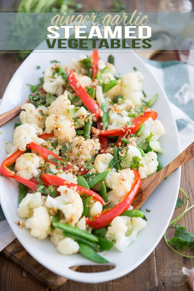Ginger Garlic Steamed Vegetables