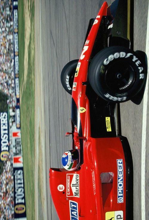 Gianni Morbidelli (ITA) (Scuderia Ferrari), Ferrari 643 - Ferrari Tipo 037, 3.5 V12 (finished 6th) 1991 Australian Grand Prix, Adelaide Street Circuit © Scuderia Ferrari