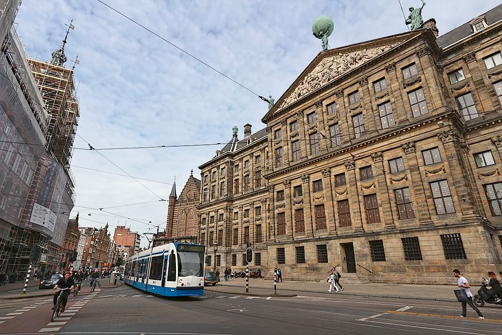 The Royal Palace  in Amsterdam, Netherlands