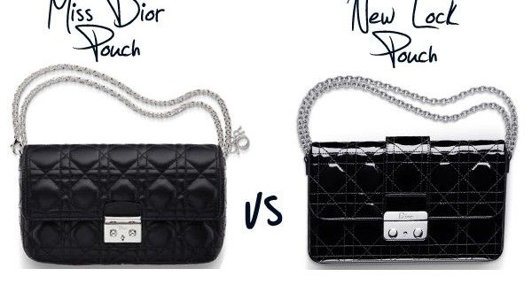 56d7aa71f1 'Miss Dior' Promenade Pouch Bag Versus the Dior 'New Lock' Pouch Bag |  Spotted Fashion. '