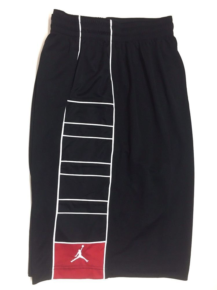 ba58c74f234711 Nike Men s Air Jordan Dri-Fit Basketball Shorts XXL Black Red NEW  Nike   Shorts