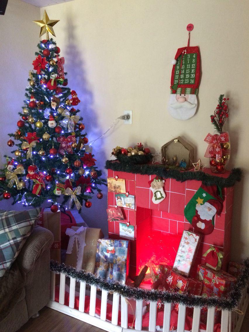 Minha sala já está pronta e decorada para o Natal!