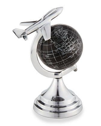 Hadwin Mini Globe with Airplane at Neiman Marcus Last Call.