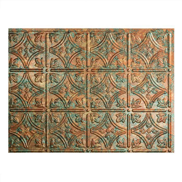 """Traditional #1 24.25"""" x 18.25"""" PVC  Backsplash Panel in Copper Fantasy Kit"""