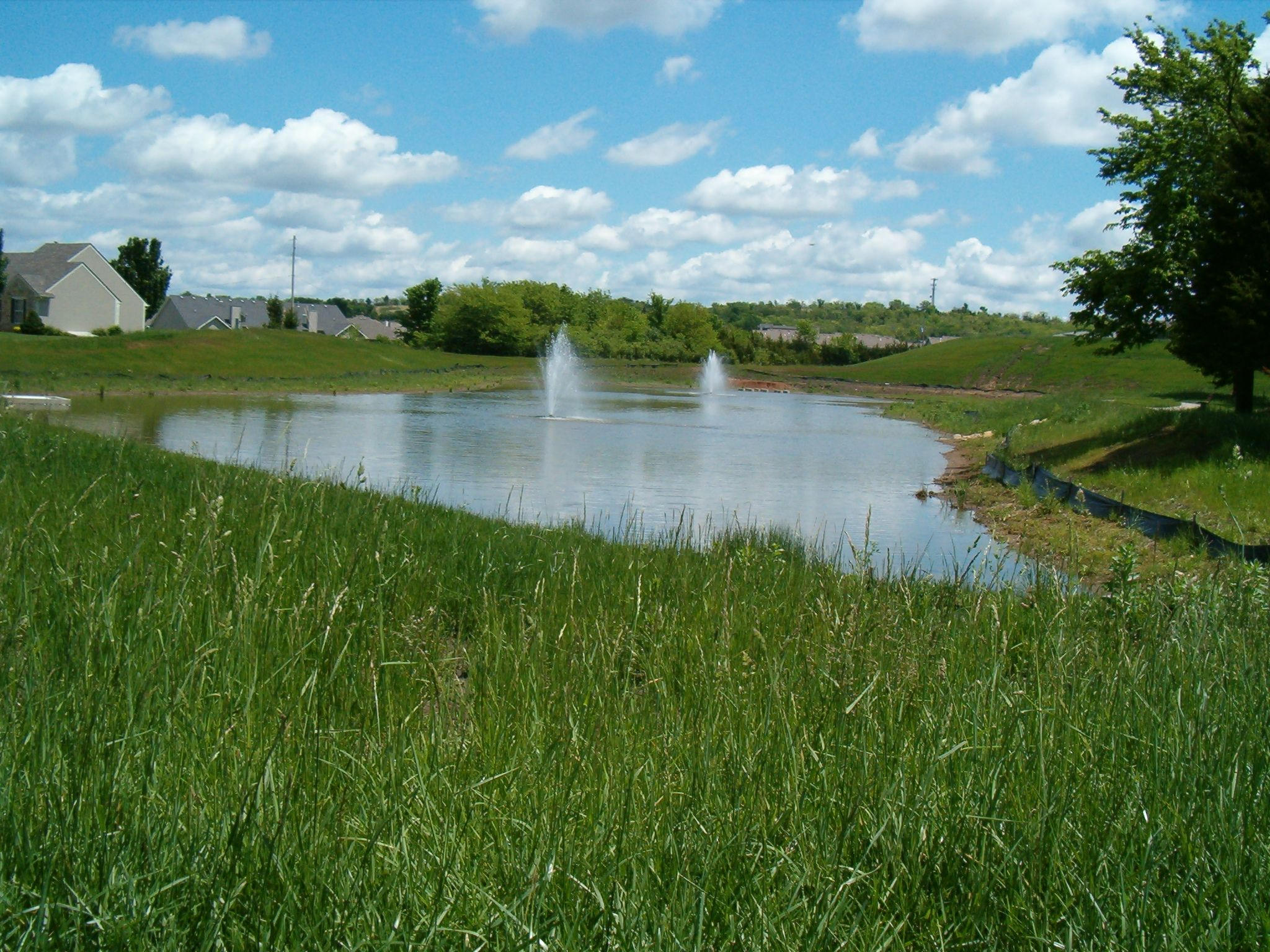 Storm water retention pond in kansas stormwater water for Stormwater pond design