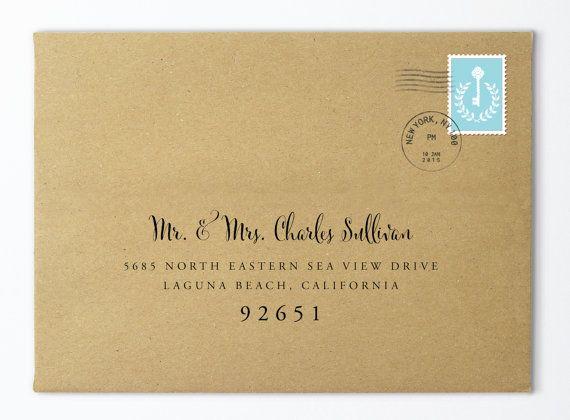custom wedding envelope custom calligraphy envelope envelope