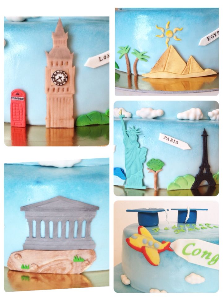 """Dettagli """"Travel Cake"""" di Mary Cervino."""