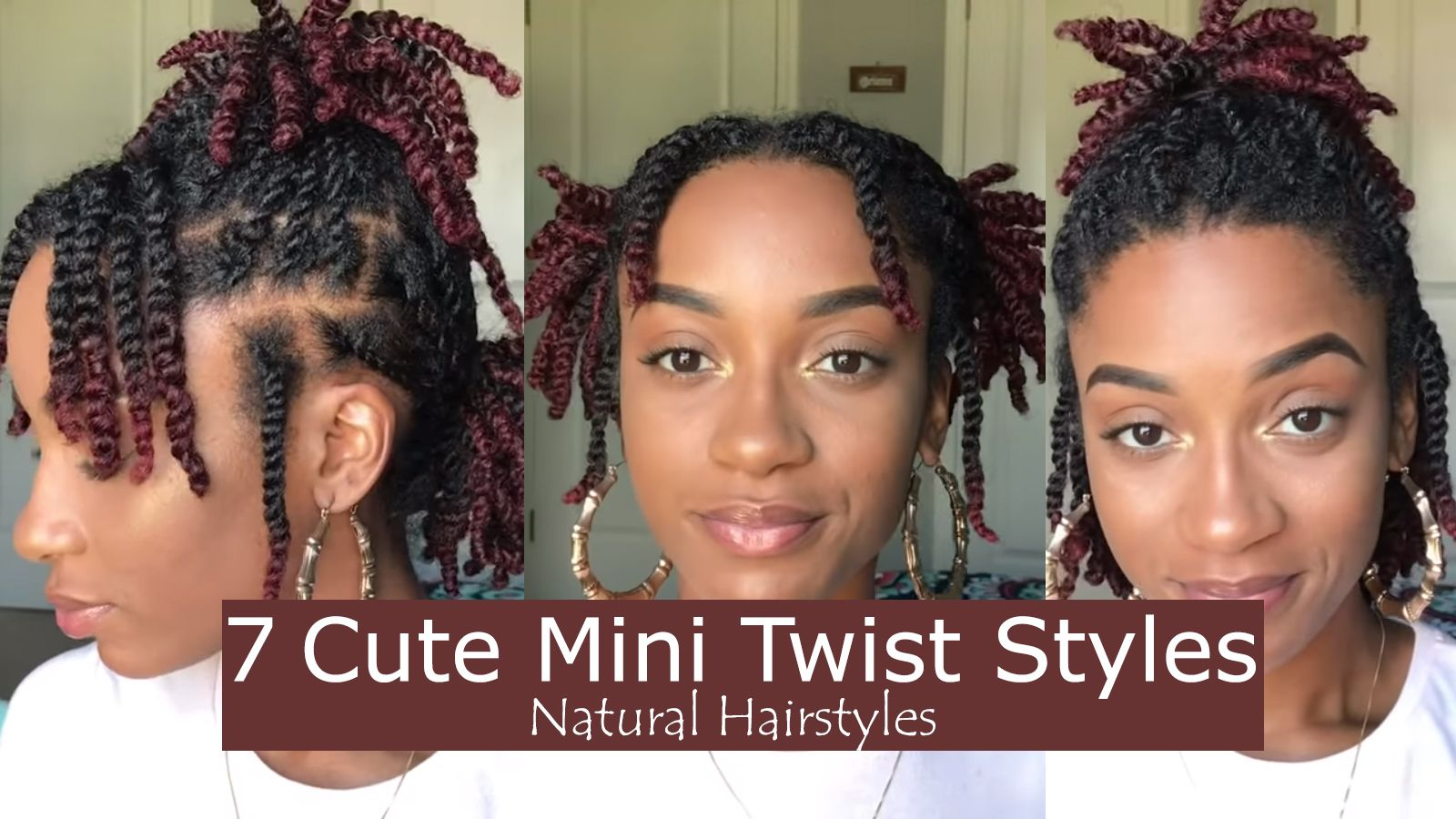 7 Quick And Easy Styles You Can Do With Your Mini Twists Natural Hair Twists Natural Hair Styles Mini Twists Natural Hair
