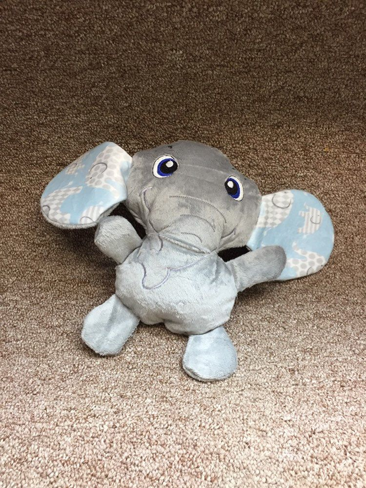 Soft Elephant Plush Easter Soft Toy Squeaker Optional Minky