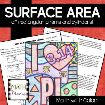 Surface Area Of Rectangular Prisms And Cylinders Math With Color