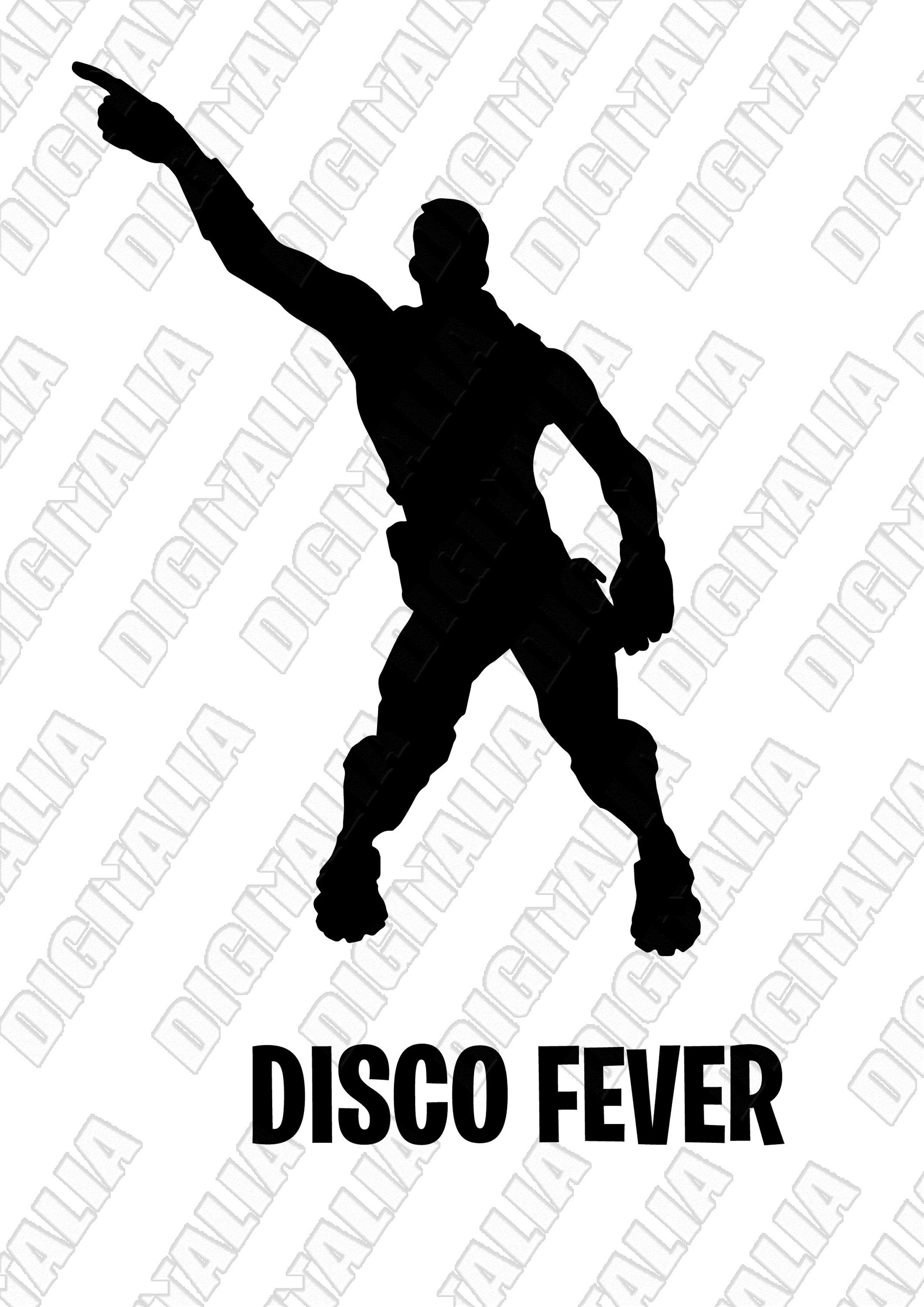 Emote Dance Printable Wall Stickers Svg Clipart Stencils Fortnite Inspired Png With Transparent Backgrou Dance Poster Wall Printables Photoshop Overlays
