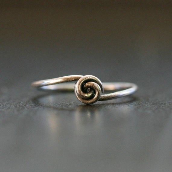 DIY wire wrapped knot ring