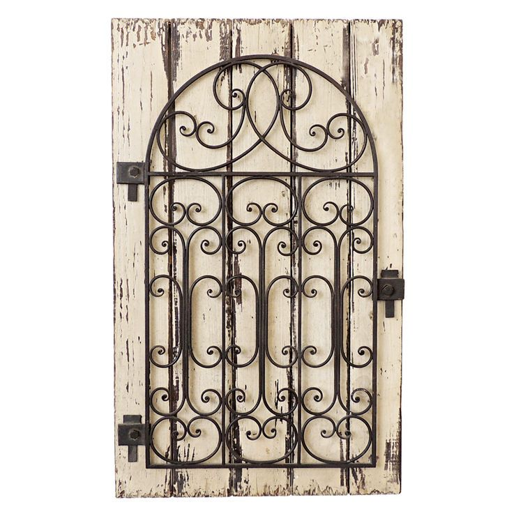 24 X 39-in Metal Ivory Rustic Gate | At Home | Pinterest | Gate ...