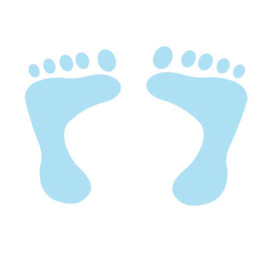 Baby Boy Blue Footprints Clip Art