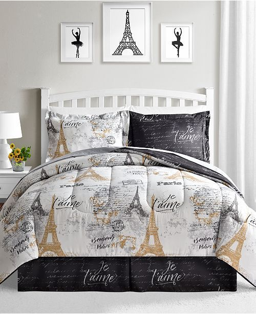 Paris CLA3009453B Bedding Sets | 3 pieces: Duvet Cover Bed Sheets Spread, 2 Pillow Cases | 4 sizes: Twin, Full, King, Queen