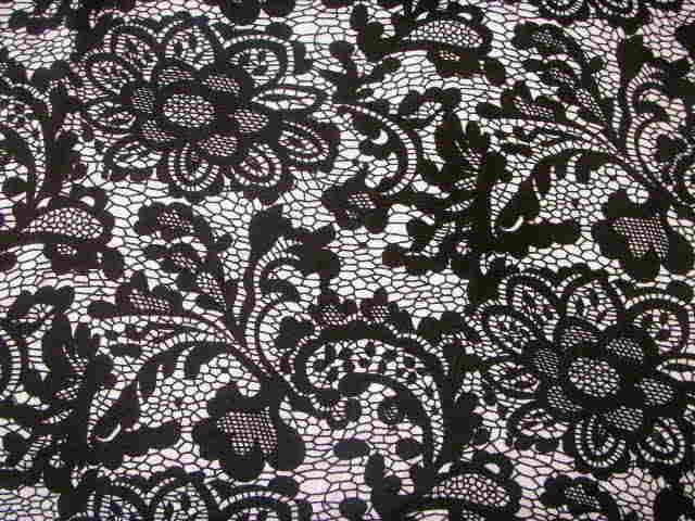 15ad27f3bee Lace look print #1955 Rayon/Spandex jersey knit fabric | fabric *Oh ...