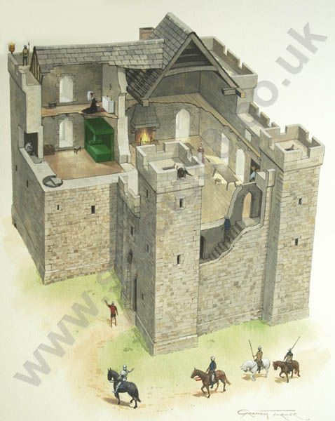 Thirlwall castle 1450 kastelen in engeland en ierland for Medieval castle house plans