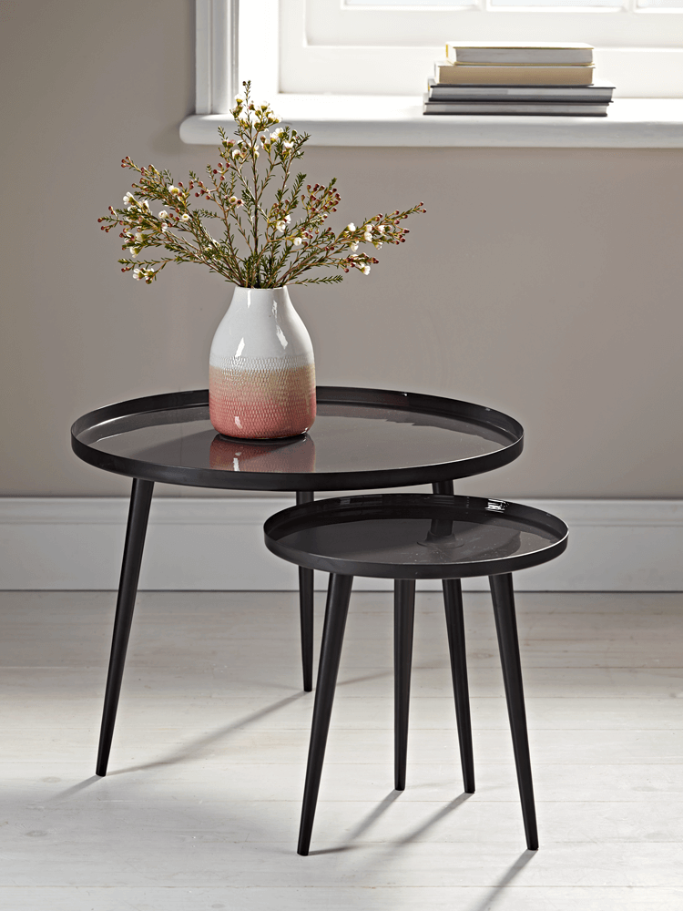 Two Enamelled Storage Tables Home In 2019 Table