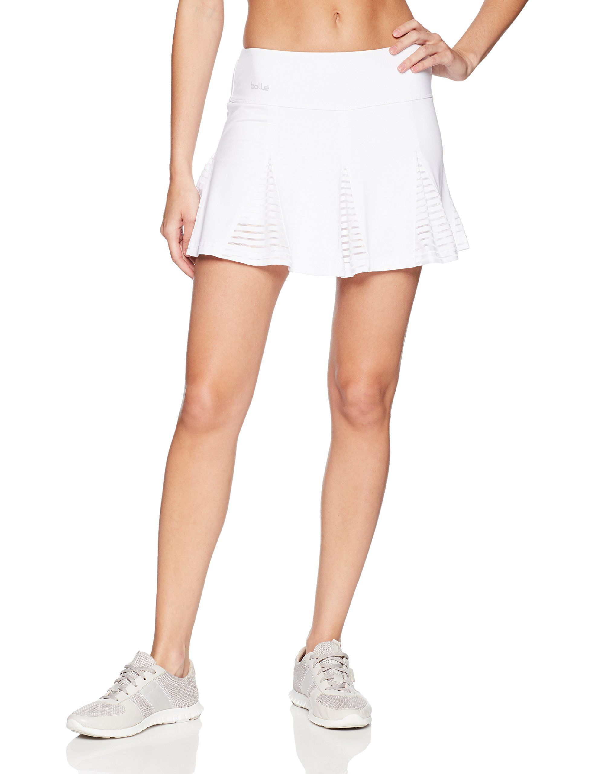 d4dcf6aa1 Bolle Womens Club Whites Pleated Athletic Skirt with Attached Shorts ...