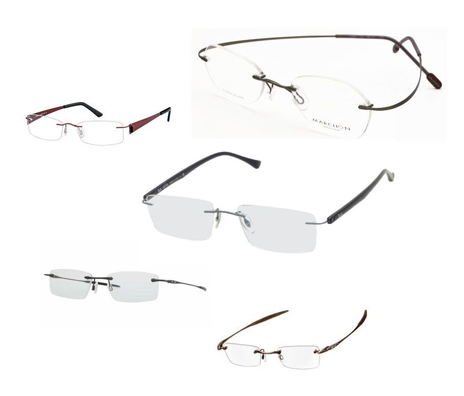 We stock a wide range of rimless glasses. Including titanium frames ...