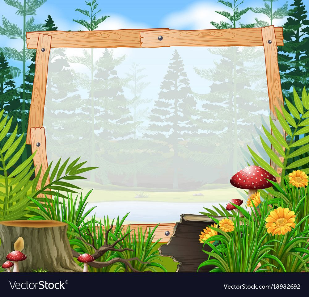 border template with forest in background vector image on vectorstock border templates photoshop backgrounds background border template with forest in