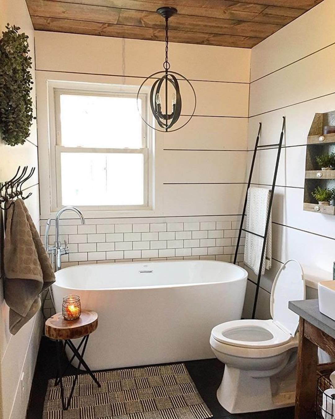 Bathroom design INSPIRATION with Becca Byrd\'s farmhouse remodel. The ...