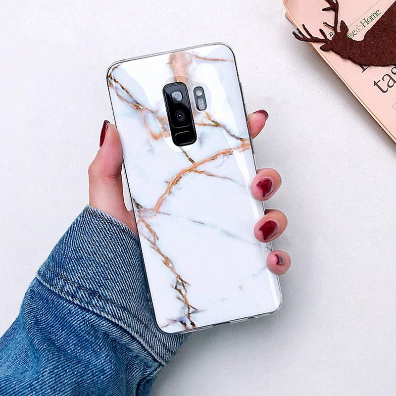 Case For Samsung Galaxy S10 S9 S8 Plus S10e Luxury Soft Silicon Marble Cases For Samsung Galaxy Note 9 8 S7edge Cover Fundas