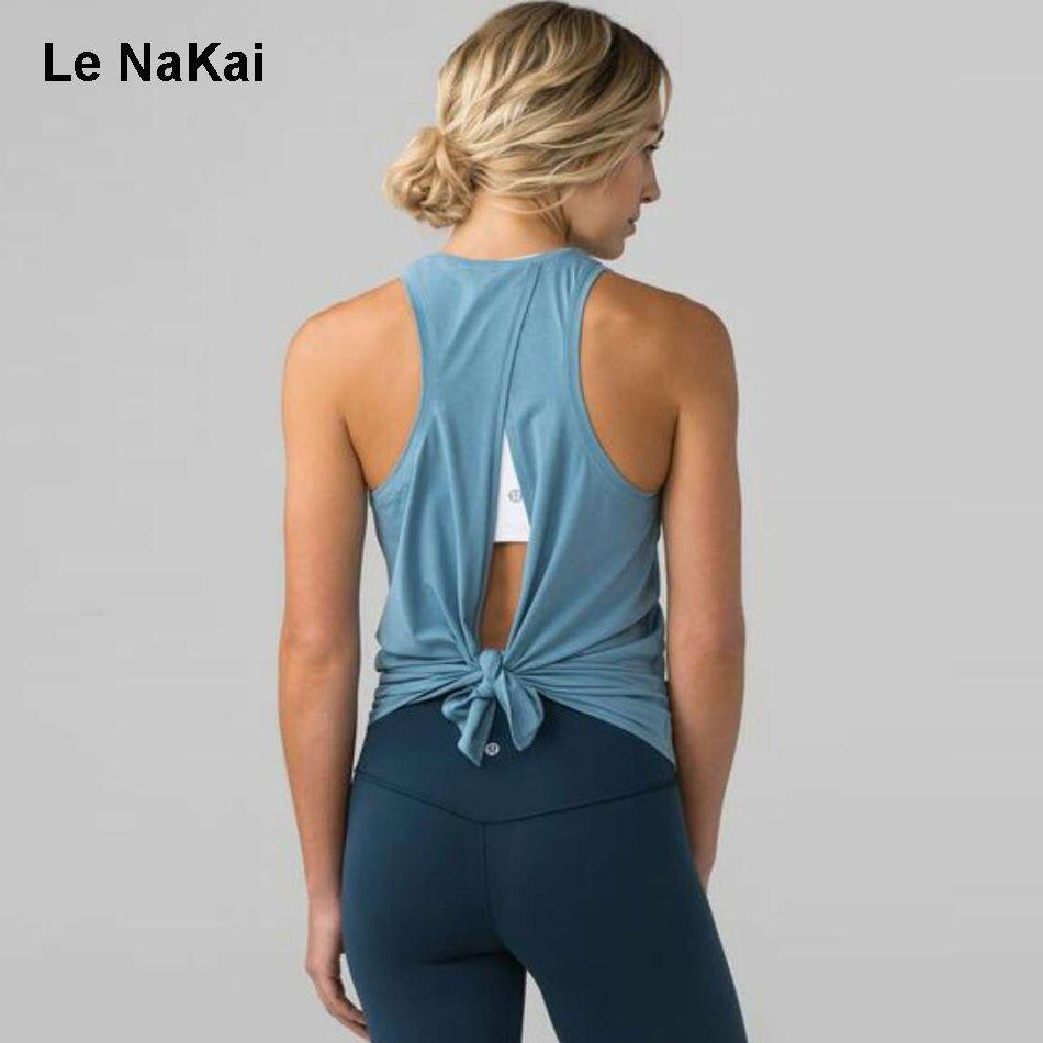 Promotion Price Women Open Back Yoga Tank Top Shirts