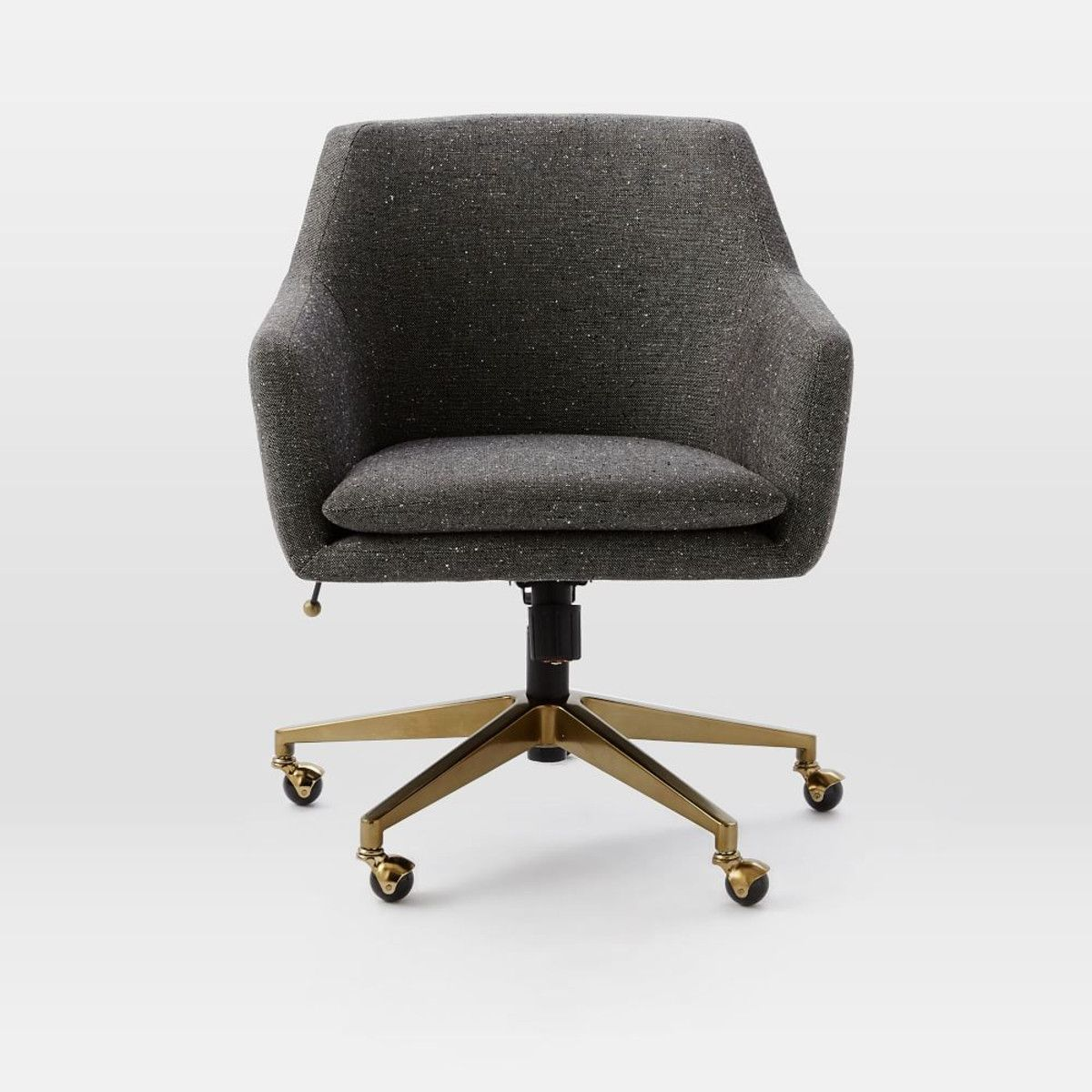 upholstered office chairs. Seating Option Throughout:Helvetica Upholstered Office Chair | West Elm Chairs