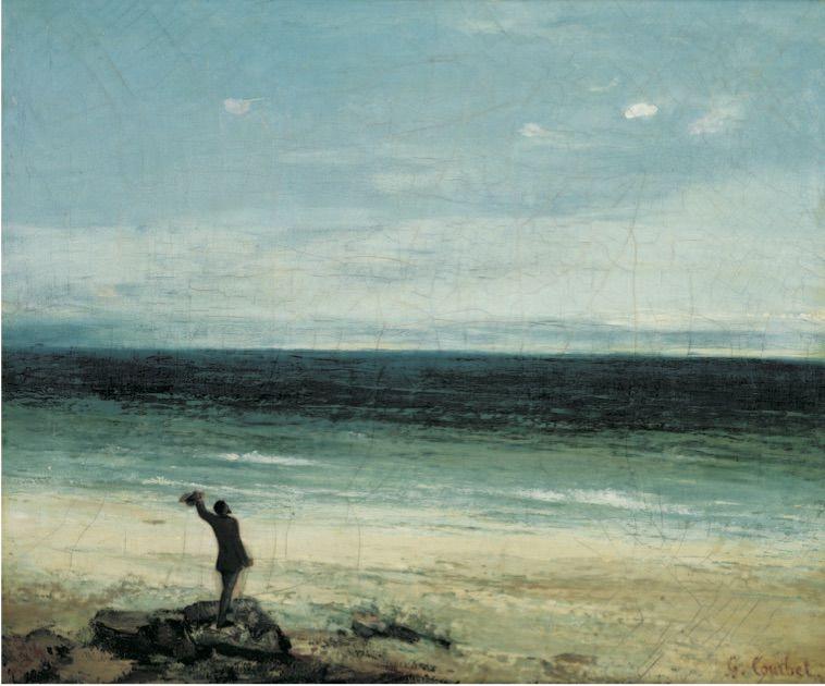 Le bord de mer à Palavas Gustave COURBET Montpellier, musée Fabre, don Bruyas 1868.