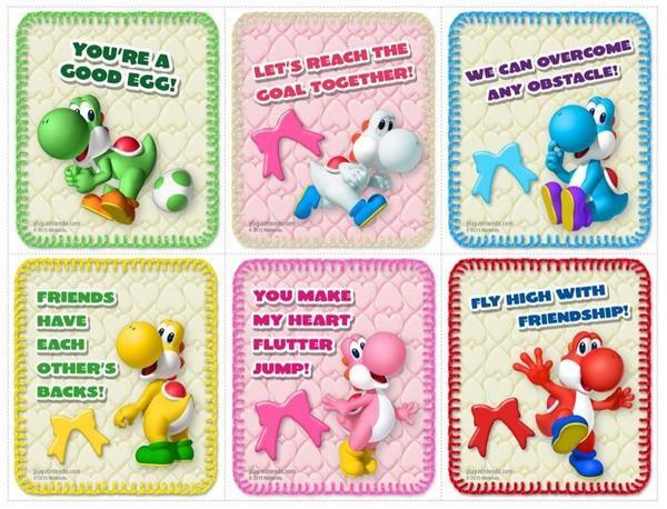 Nintendo Valentines Valentine Day Cards Valentines Cards Valentines