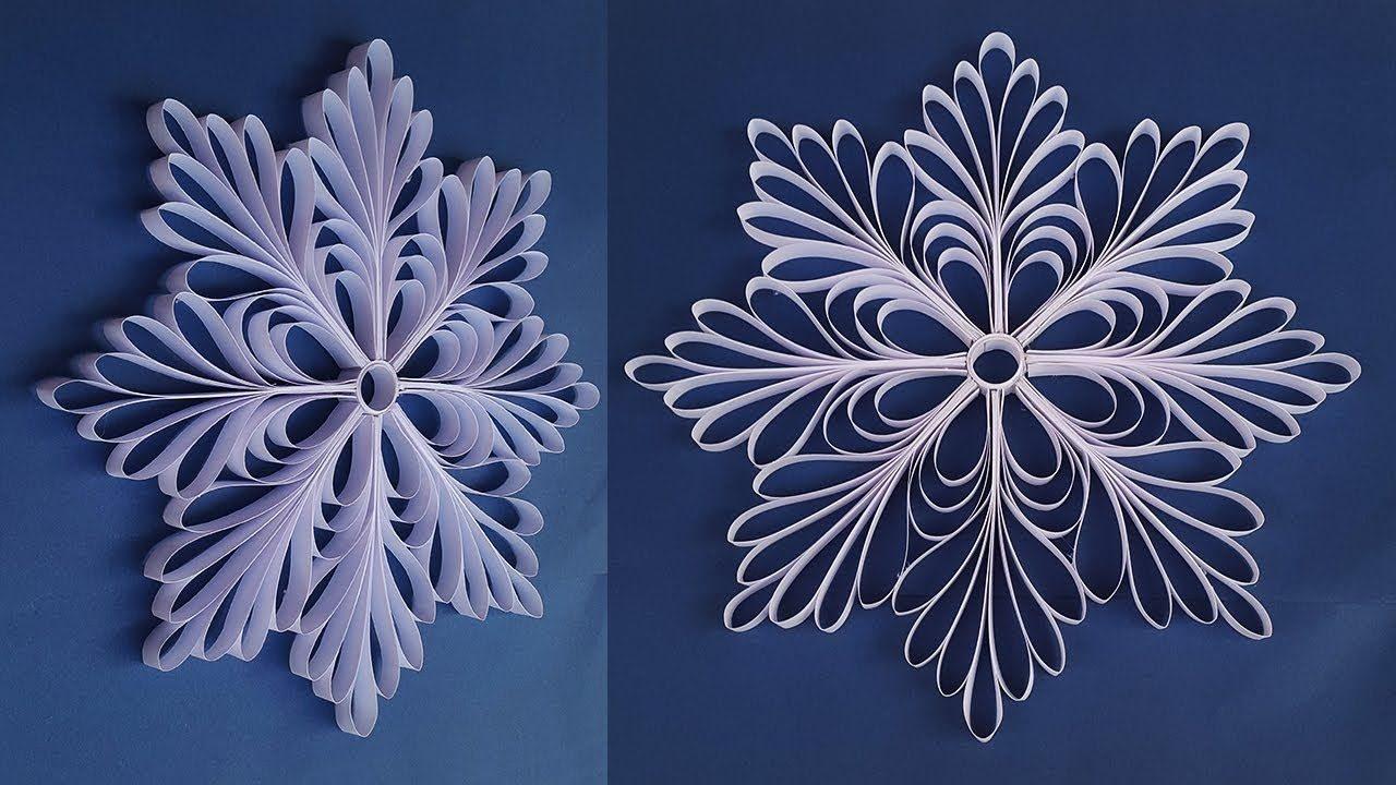 DIY 3D Paper Snowflakes for Christmas Decorations