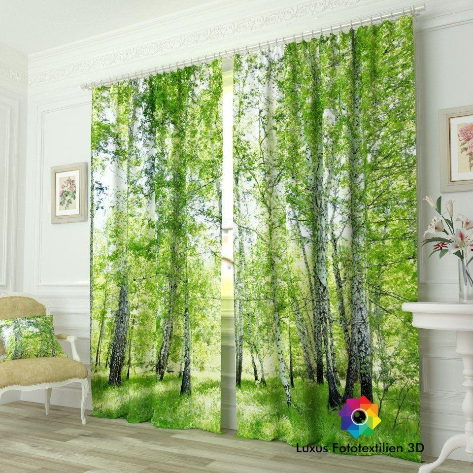 Vorhang Fotodruck fotogardinen foto vorhang gardine vorhänge luxus fotodruck 3d alle