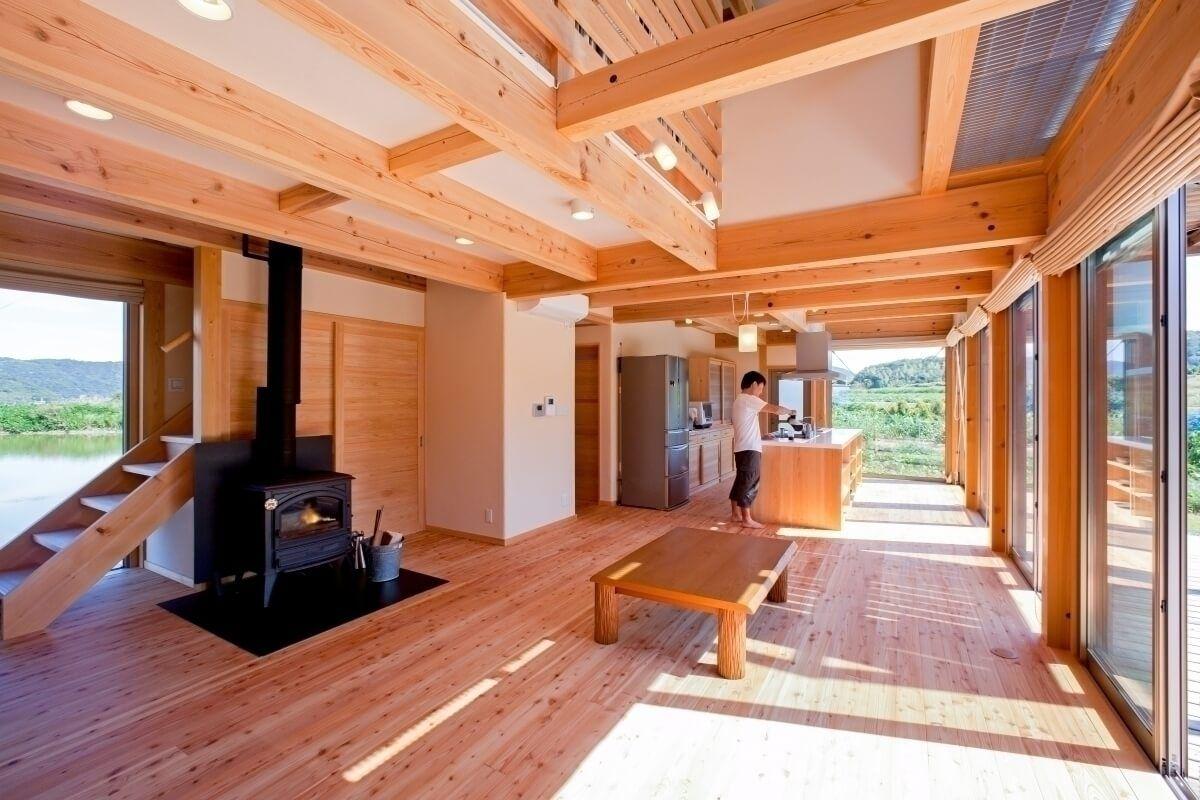 大きなガラス窓の家 作品集 和歌山 大阪 木の家の建築家 中村伸吾