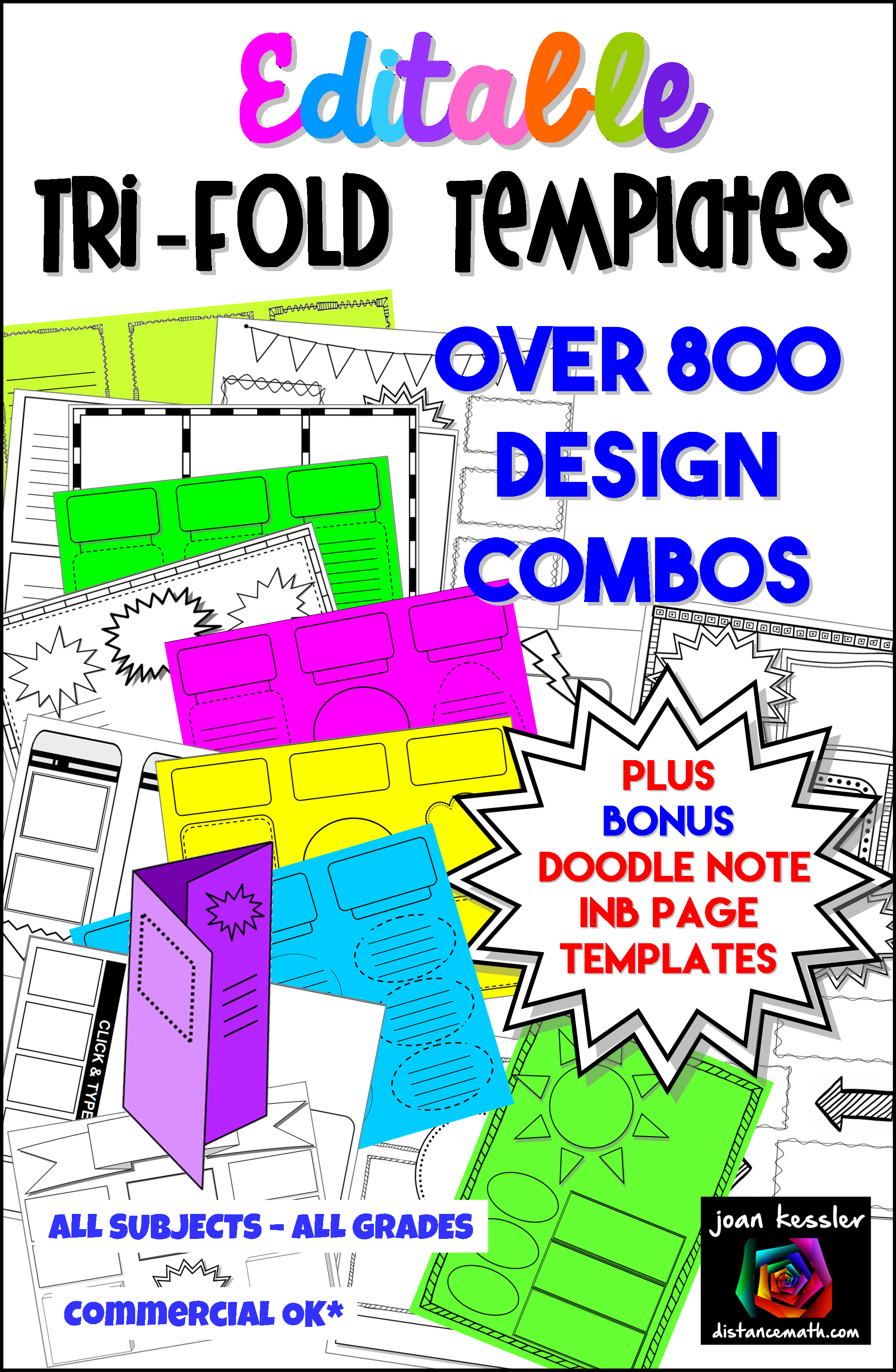 Editable Brochure And Graphic Organizer Templates Also For