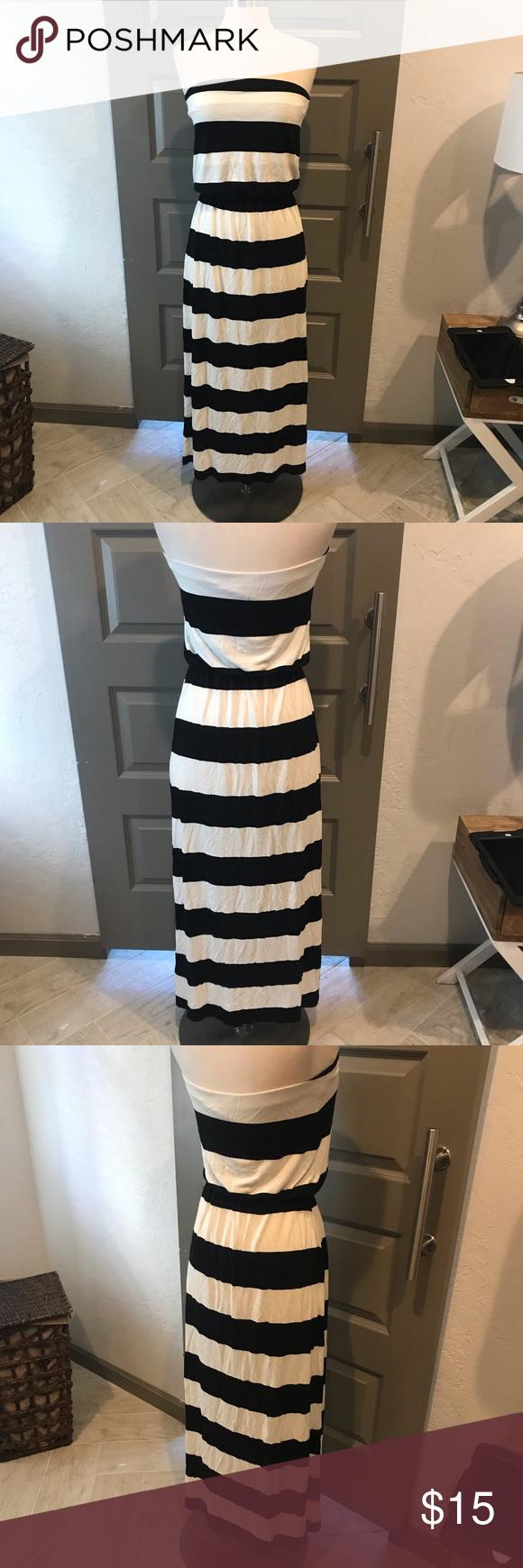 Gap Striped Maxi Dress Striped Maxi Dresses Maxi Dress Strapless Maxi Dress [ 1740 x 580 Pixel ]