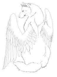 Winged Wolf Easy Wolf Art Drawing Wolf Drawing Wings Art