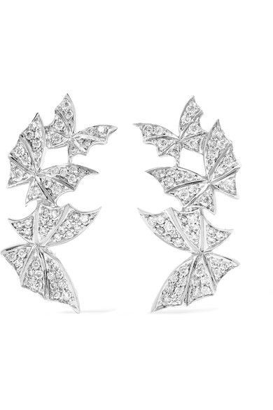 Stephen Webster Fly By Night 18-karat White Gold Diamond Earrings XRoDaSMrb