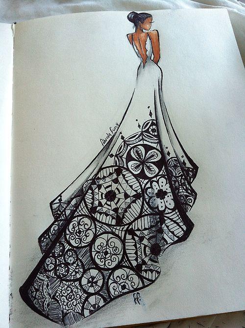 fabiola FUNG - 20 - canada http://loveandboho.tumblr.com/ art sketch gown