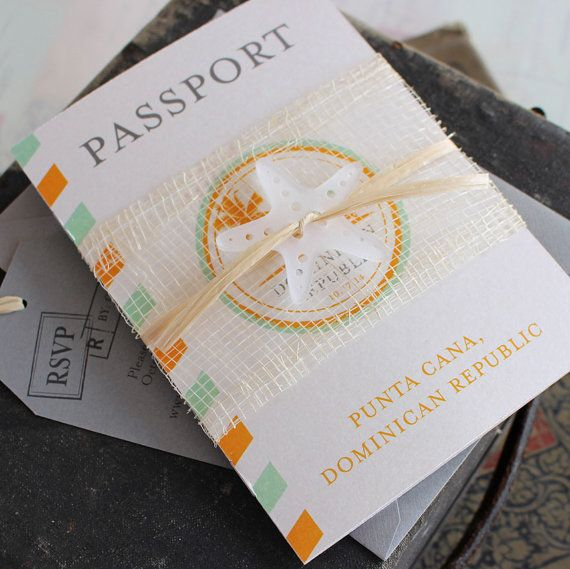 Hey, I found this really awesome Etsy listing at http://www.etsy.com/listing/172770498/modern-air-mail-passport-wedding