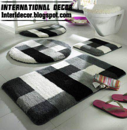 badezimmerteppiche, schwarz und weiß badezimmer teppiche #teppich #dekoideen #möbelideen, Badezimmer