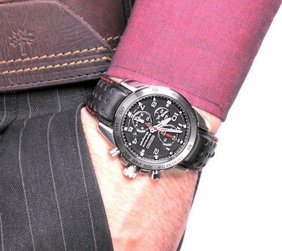 Seiko Men's Sportura Alarm Chronograph Watch SNAE65P1
