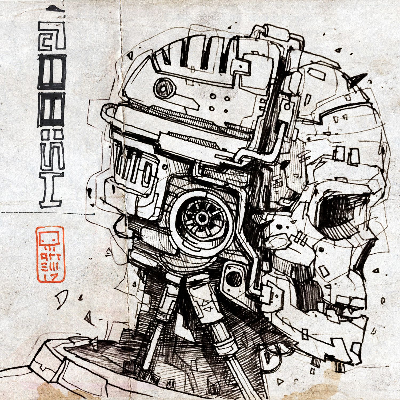 Anime Sketch Drawing Robot