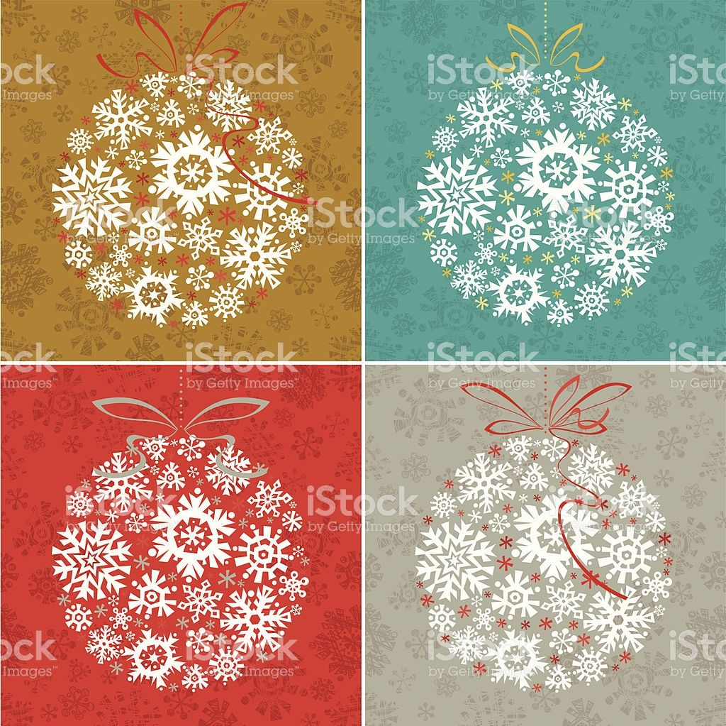 Set of Christmas Delicate Ornaments royalty-free stock vector art