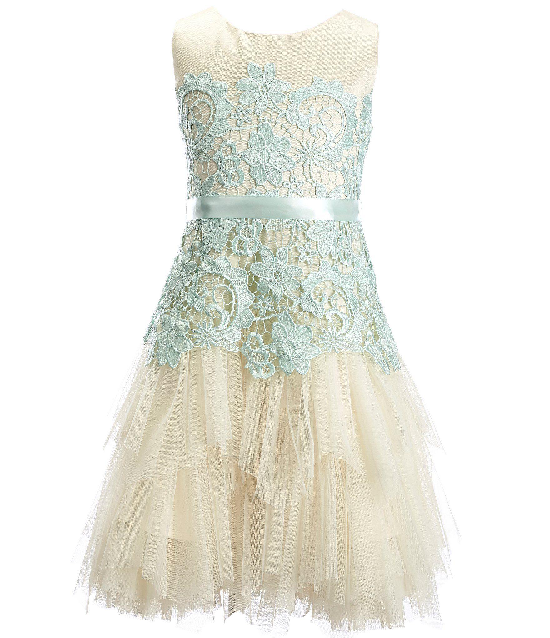 ba7669ba523e Shop for Chantilly Place Big Girls 7-16 Lace Cascade Tiered Dress at ...
