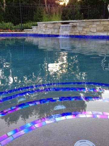 Hope your #summer is going swimmingly! We know the #satisfiedcustomers that had their #pool #designed with our #tile are enjoying themselves. #MidAmericaTile #TransformationThursday #TBT