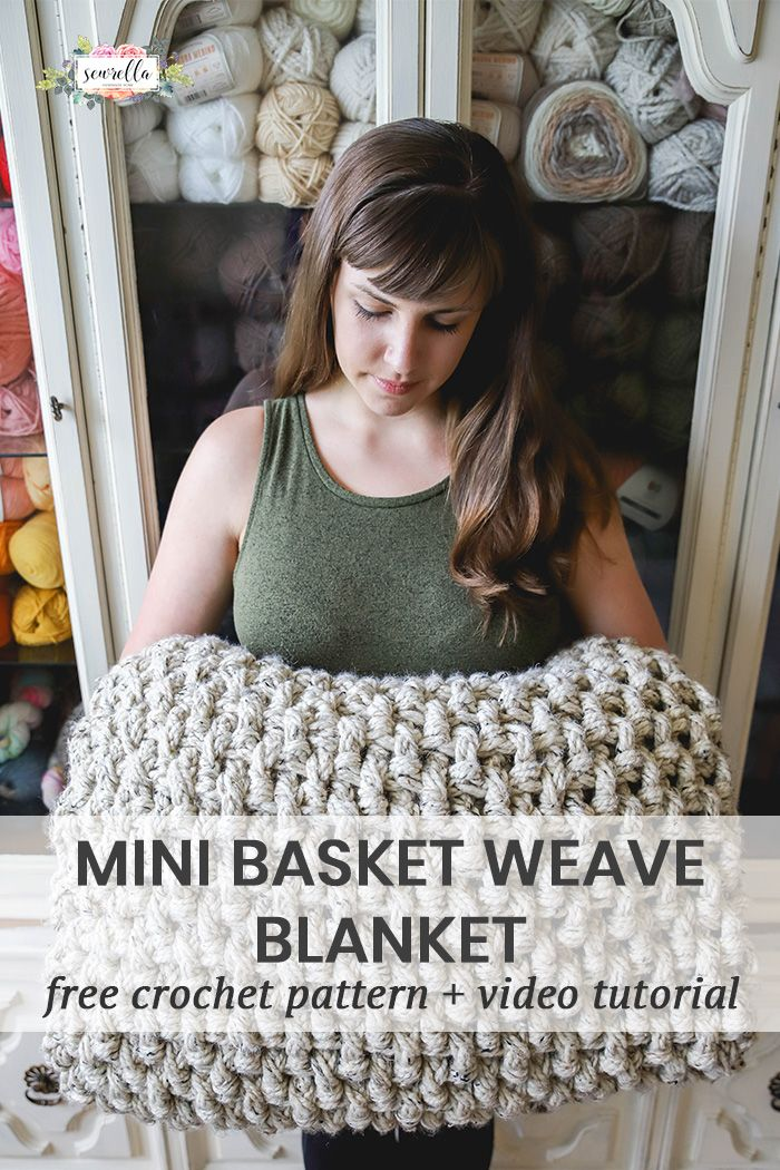 Crochet Mini Basketweave Blanket | Frazada, Cosas bonitas y Manta